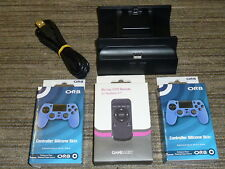 SONY PLAYSTATION 4 PS4 CONTROLLER USB CHARGING DOCK BLURAY REMOTE SKIN CHARGER