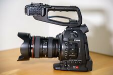 CANON C100 w/Dual Pixel AF, 24-105 L Lens, and 3 Batteries. Original pkg. 1 Ownr