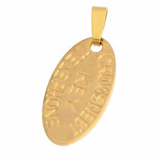"Yellow Gold Filled Womens Mens ""Titanic Telephone Key"" Oval Pendant For Necklace"