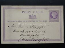 Hartlepool from BRIDGES & ROBSON Co 1870's QV 1/2d PP Postal Stationery Memo PC