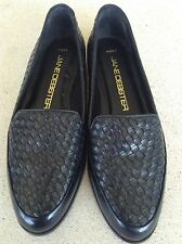 Women's Jane Debster Black Leather Shoes- 8.5