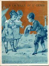 1880's Whimsical Victorian Trade Card Parisian Clothing Shop Paris Saint Denis