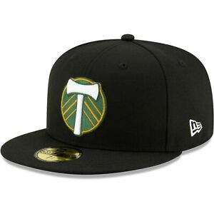 Portland Timbers New Era Primary Logo 59FIFTY Fitted Hat - Black