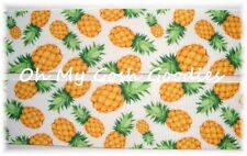 7/8 DESIGNER PINEAPPLE * PATCH * GROSGRAIN RIBBON TROPICAL 4 HAIRBOW BOW