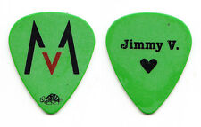 Maroon 5 Jimmy Valentine Signature Green Guitar Pick - 2008 Tour
