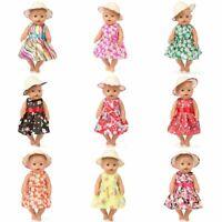Fashion Floral Baby Born Doll Clothes Wear Fits 43cm Babies Reborn Clothes