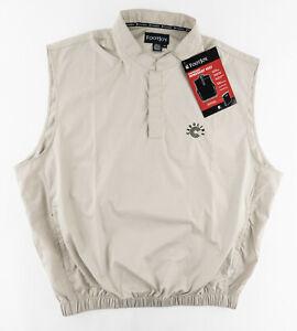 FootJoy FJ Mens XL Golf Performance Windshirt Vest 1/4 Snap Pullover Polyester