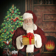 PBL Christmas Fireplace  Photo 9'x9' Muslin Backdrop Hand Painted Steve Kaeser