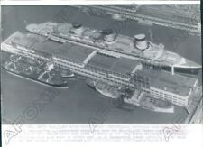 1941 French Liner SS Normandie In New York May Be Seized Press Photo