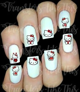 HELLO KITTY Stickers autocollant ongles manucure nail art water decal déco