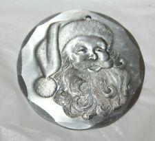 Wendell August Forge 1991  Aluminum Ornament/Santa