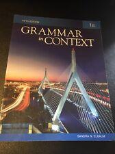 Grammar In Context Book 1b by Sandra N Elbaum, Fifth Edition