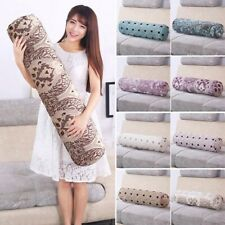 Round Bolster Floral Cylinder Pillow Retro Style Long Cushion Friend Parent Gift