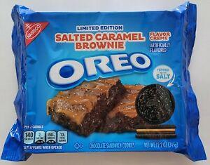 NEW Nabisco Oreo Salted Caramel Brownie Chocolate Sandwich Cookies FREE SHIPPING