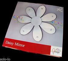 Wall Mirror Flower Daisy Shape 42cm Home Bedroom Living Decor Decorative