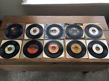 70s & 80s 45 rpm Singles Lot of 10 Records Vintage Rock Pop Disco