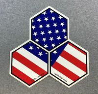 Channel Islands Surfboards US Flag Hex Sticker Medium 4in
