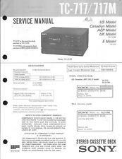 Sony Original Service Manual per tc-717/M