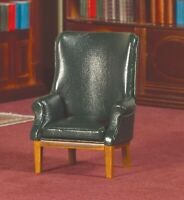 Dolls House Emporium 1/12th Scale Green Leather Look Porters Chair Study 2442