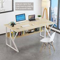 Computer Desk Laptop Table Student Writing Desktop Modern Workstation w/ Shelf