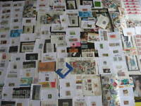 West Germany interesting boxlot, sales cards, souvenir sheets, mixtures etc,