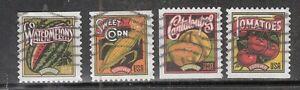 SUMMER HARVEST #5004-5007 Used US 49c Forever 2015 Commemorative Stamp Set