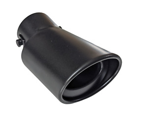 CARTUNER Auspuffblende schwarz oval für Smart Fortwo Forfour Typ 453 ab 2014