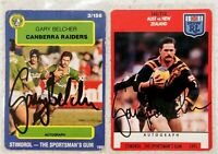✺Signed✺ 2 x Gary Belcher (Raiders) Lot of NRL Rugby League cards