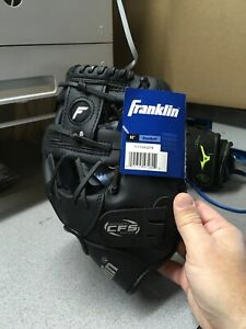 "Franklin 11"" Baseball Fielding Glove Black Right Handed No Break-in Required"