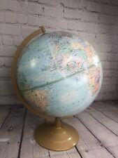 """Globemaster 12"""" Inch Diameter Rotating Globe Raised Textured Surface"""