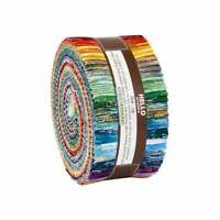 "Kaufman, Fusions Brushwork, Roll Up, 2.5"" Fabric Strips, RU-903-40, J01"