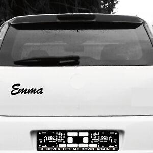 Emma 21cm Kinderzimmer Name Aufkleber Tattoo Deko Folie Auto Tür Fenster Schrank