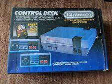 NINTENDO NES ENTERTAINMENT SYSTEM CONTROL DECK CONSOLE COMPLETE W BOX 3 CONTROLS