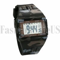 Electronic Digital Camouflage Multifunction LED Display Wrist Watch for Men Gift