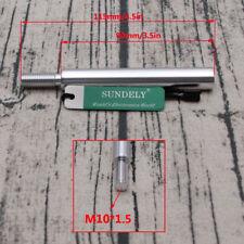 M10 x 1.5 Aluminum Shift Knob Extension For Gear Shifter Lever Extender Silver