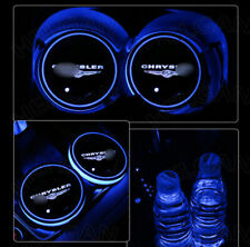 2x 7 Color LED Car Cup Holder Pad Light for Chrysler Interior Atmosphere Coaster
