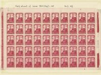 mexico 1934 mint never hinged half stamps sheet ref r12710