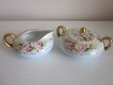 Silesia Porcelain Cream and Sugar set Hand painted