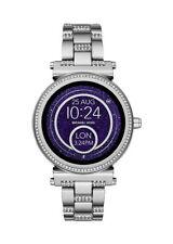Michael Kors Access Sofie Pavé 42mm Silver-Tone Smartwatch with Luxe Pavé Accent
