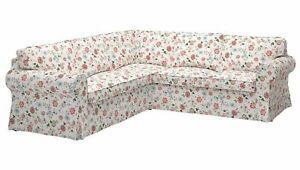 Ikea cover set for Ektorp Corner Sofa,4-Seat in Videslund Multicolour 603.039.04