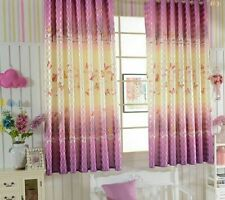 Pastoral Semi-shade Curtains Living Room Bedroom Window Ceiling Installation New