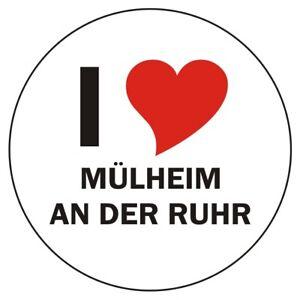 Aufkleber / Autoaufkleber - I LOVE Mülheim an der Ruhr - JDM / Die cut 80mm