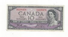 **1954 Devil's Face**Canada $10 Note, Beattie/Coyne BC-32b, Ser# ID 6238478