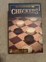Cardinal Traditions CHECKERS Game 24 Checker Pieces Folding Board Boardgame NEW