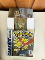 1999 Nintendo Pokemon Gold [AUS - PAL] - Boxed COMPLETE RARE Game Boy EXPRESS
