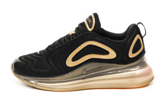 Nike Air Max 720 Black Gold Men's Sneakers Black Casual Shoes Limited CJ0585-002