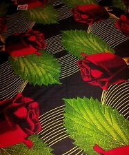 Beautiful red black green floral 100% cotton bed sheet with 2 pillowcases