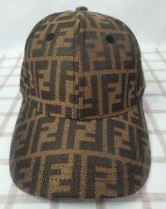 New Fendi Unisex Hat Golf Cap Sport Baseball Outdoor Adjustable Brown Hat
