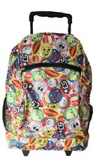 360 Multicolour Canvas Wheeled Trolley Backpack with Extendable Handle