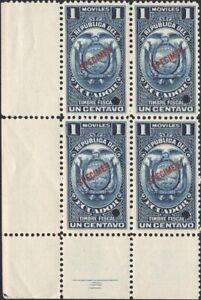 ECUADOR, 1930s. Revenues Stamp Duty Block, Specimen